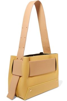 YUZEFI Biggy color-block textured-leather tote
