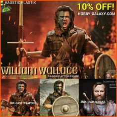 http://www.hobby-galaxy.com/kaustic-plastik-william-wallace-scottish-highlander-1-6-scale-deluxe-action-figure-set/ #braveheart #melgibson #williamwallace #mel #highlander #highlanders #scotland #scottish #scottishhighlands #actionfigures #actionfigure #onesixthscale #collectiblefigure