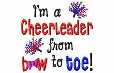 Im a Cheerleader from Bow to Toe  Machine by LilliPadGifts on Etsy, $4.50