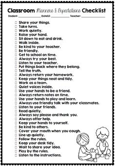 Classroom Manners and Expectations Posters Clever Classroom-these need to be broken into manageable chunks. Classroom Expectations, Classroom Behavior Management, Classroom Rules, School Classroom, Classroom Organization, Behaviour Management, Classroom Ideas, Classroom Procedures, Classroom Projects