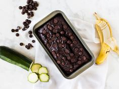 Chocolate zucchini banana bread is a delicious recipe to try for your summer squash. | www.ifyougiveablondeakitchen.com