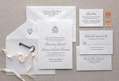 Newmengxing Letterpress Wedding Invitation,Traditional, Elegant, Simple and Classic invitation for your wedding (2)