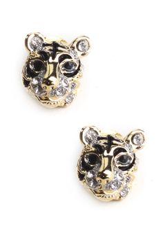 Wild Tiger Stud Earrings $11.00