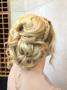 Signature Brides hair and make-up, soft updo, braid, beautiful wedding hair