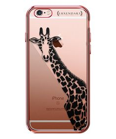 Look what I found on #zulily! Rose Gold & Black Giraffe Case for iPhone by Luxendary #zulilyfinds