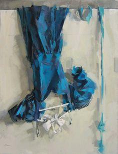MAGGIE SINER. A blue dress