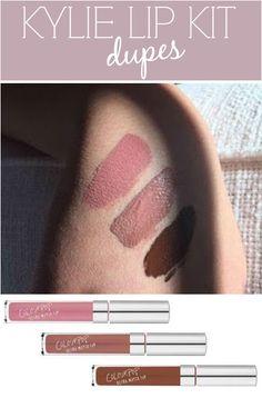 Kylie Jenner liquid lipstick Lip Kit dupes -- for $6 a tube!