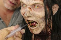 The Walking Dead zombie make-up application not only useful to walk to safety but to sneak up on your enemies