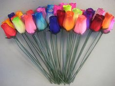 For centerpieces?  Bouquet of 36 Mixed Color Wooden Rose Buds Artificial Flower