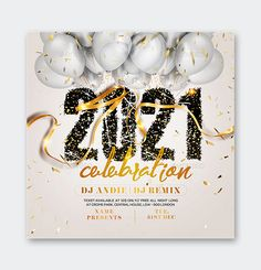 2021 New Year Flyer Template PSD