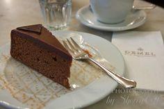 The winning sachertorte at Cafe Demel