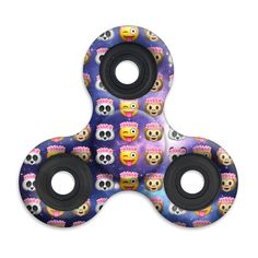 Spinner Squad Emoji Galaxy Fidget Spinner! Just one of over 60+ spinner designs by Top Trenz! Voted #1 for fastest and longest spin!