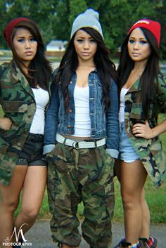 Would totally wear the middle ones outfit!