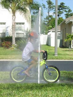 "Super Easy DIY ""Bike Wash"" made out of PVC pipe.  Most dads can whip this up for $20, a trip to Lowes or Home Depot and about 2 hours!"