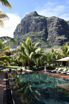 "Located at the foot of ""Le Morne Mountain"" 