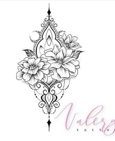 50 Arm Floral Tattoo Designs for Women 2019 - Page 19 of 50 - Flower Tattoo Designs - Tatouage Floral Tattoo Design, Mandala Tattoo Design, Flower Tattoo Designs, Tattoo Designs For Women, Rose Tattoos, Body Art Tattoos, Sleeve Tattoos, Jewel Tattoo, Lace Tattoo