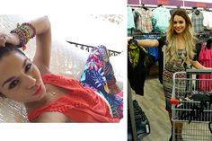 Vanessa Hudgens - Tropical Pants and Midi-Dress from Bongo clothing line