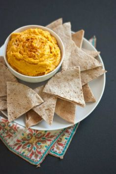 Spicy Sweet Potato Hummus | cookieandkate.com