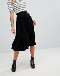 ASOS Petite | ASOS DESIGN petite midi skirt with box pleats