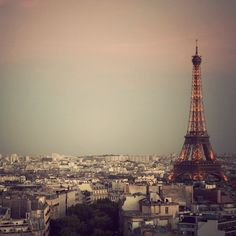 The Most Beautiful City - Eiffel Tower at sunset,  PARIS, France