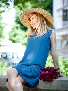 Street style | THE PERFECT SHADE OF BLUE | Hats on clouds | Hat Blue Hats, My Favorite Color, Shades Of Blue, Clouds, Street Style, My Style, How To Wear, Dresses, Fashion
