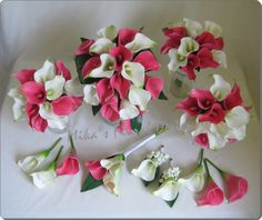 fuschia wedding bouquets with lilies | Artificial Wedding Flowers and Bouquets - Australia: Packages Price ...