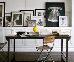 Brooke Shields' Workspace   photo William Waldron   via Architectural Digest   House & Home