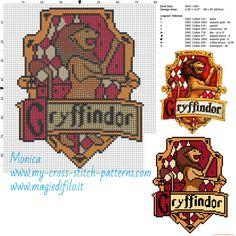 Gryffindor cross stitch pattern