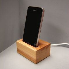 Wood Iphone Dock Station in Western Red Cedar by andrewsreclaimed, $27.00