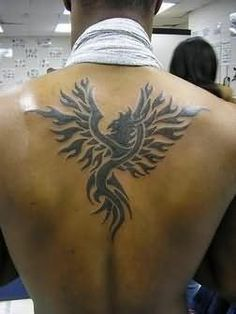 Phoenix Tattoo On Back For Men : Back Tattoos Phoenix Tattoo For Men, Tribal Phoenix Tattoo, Phoenix Bird Tattoos, Phoenix Tattoo Design, Tribal Tattoos, Tatoos, Celtic Tattoos, Cool Back Tattoos, Back Tattoos For Guys