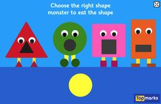 Shape Monsters – A 2D shapes matching game for 2-5 year olds #tabletfriendly #2dshapes
