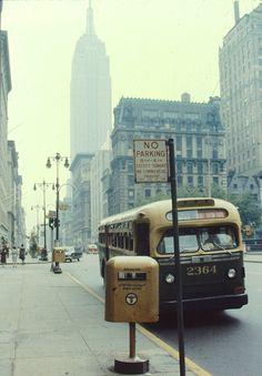 5th Avenue Off 42nd Street (c 1960s) -original slide/ photographer unknown