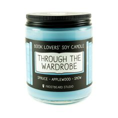 Through the Wardrobe 8 oz soy candle front view