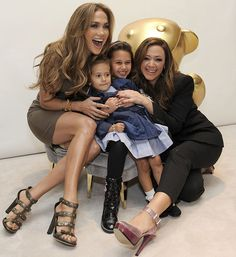 JLo and Emme, Leah and Sophia. Nice SPANX JLo!
