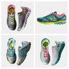 Under Armour running shoes - I have the ones on the top right and I love them!