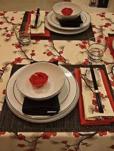asian table set
