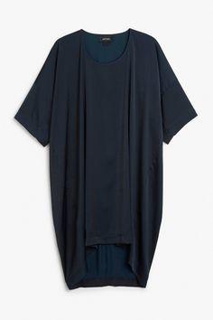Silky oversize dress
