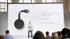速報:Google、4K対応のChromecast Ultra発表。4Kストリーミング、HDR対応。有線LAN端子搭載 - Engadget Japanese
