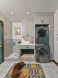 Utility room design - doggy shower