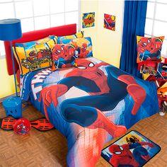 Coordinado de Edredon Hombre Araña #Infantil #Edredon #Hogar #IntimaHogar #Decoracion