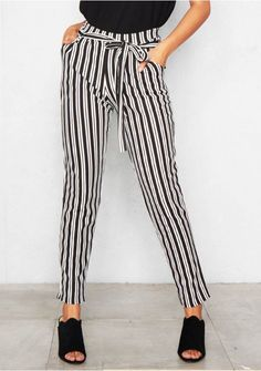 Get heads turning this summer in the Rebecca Black Pinstripe Tie Waist Trousers . Featuring tie waist detailing and straight leg fit. Style with a top and barely theres to complete the look. Tie Waist Trousers, Satin Trousers, Trousers Women, Rebecca Black, Legs, Suits, Clothes, Palazzo, Empire