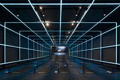 A jaw-dropping workout space built to coincide with Beijing's 2015 World Athletics Championship.Spearheaded by Shanghai-based design agency coordination Asia, the NIKE Studio is built to coincide … Gym Design, Stage Design, Retail Design, Fitness Design, Gym Interior, Interior Architecture, Contemporary Architecture, Interior Design, Interior Rendering