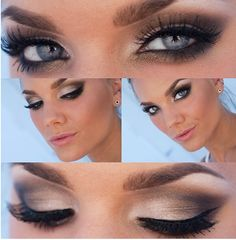 <3 regalosoutletonline.com <3 - Maquillaje  Maybe a little bit too heavy on the eyeliner but I love how much her eyes pop
