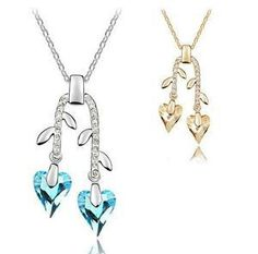 Aliexpress.com : Buy (Min.Order $15 Free Shipping)New 2013 Branch Heart Pendant Necklace Glasses Crystals Rose Gold Plated Wholesale Fashion Jewelry from Reliable necklaces suppliers on  Jewelry Adore Kingdom $4.05
