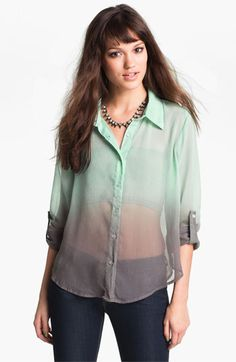 Living Doll Ombré Chiffon Shirt available at Nordstrom