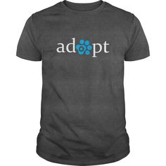 Adopt a Pet Cat Dog T Shirt. Size small to 5x.  Printed on BOTH front and back. Ladies, Mens, hoodie, tank top and sweatshirt.  Different colors available.