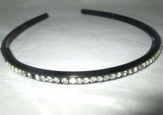 * * * Haarreifen schwarz mit Straßsteinchen * * * Bracelets, Ebay, Jewelry, Fashion, Hair Jewelry, Fashion Jewelry, Watches, Black, Moda