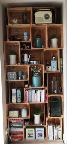 Award winning kitchen company based in Wakefield. Hygge, Kitchen Shelves, Kitchen Decor, Hanging Candles, Flower Bowl, Garden Table, Crates, Tiles, Shelving Ideas
