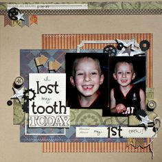 """Jenny Evans: """"I Lost My Tooth Today"""" Boys Rule layout"""