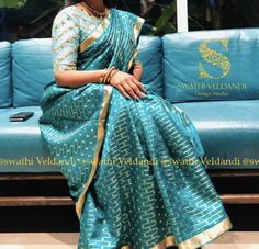 Choli Blouse Design, Blouse Designs, Saree Blouse, Sari, Navy Blue Blouse, Silk Sarees, Embroidery Designs, Blouses, Bride